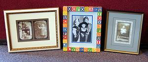 We offer a wide variety of unique picture frames.
