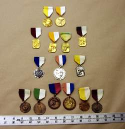 Medals would also be nice in a military retirement shadow box.